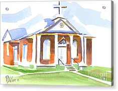 Acrylic Print featuring the painting Fort Hill Methodist Church by Kip DeVore