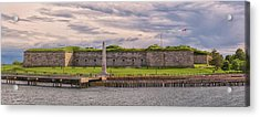 Fort Independence At Castle Island Acrylic Print