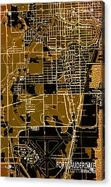 Fort Lauderdale 1949 Map Acrylic Print