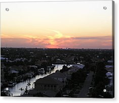 Fort Lauderdale Sunset Acrylic Print by Patricia Piffath