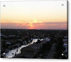 Fort Lauderdale Sunset Acrylic Print