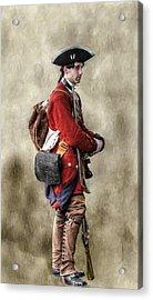 Fort Ligonier Sentry  Acrylic Print by Randy Steele