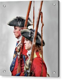 Fort Ligonier Soldiers Acrylic Print by Randy Steele