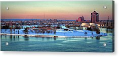 Fort Mchenry Shrouded In Snow Acrylic Print