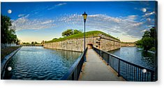 Acrylic Print featuring the photograph Fort Monroe by Williams-Cairns Photography LLC