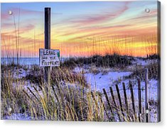 Acrylic Print featuring the photograph Fort Morgan Sunsets by JC Findley
