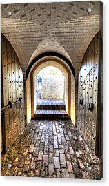 Fort Moultrie Bunker Doors Acrylic Print