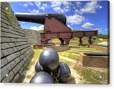 Fort Moultrie Cannon Balls Acrylic Print