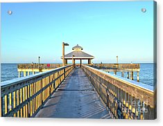 Acrylic Print featuring the photograph Fort Myers Beach Florida Fishing Pier by Timothy Lowry