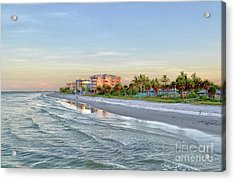 Acrylic Print featuring the photograph Fort Myers Beach Pier View 2011 by Timothy Lowry