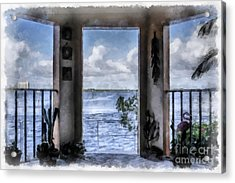 Fort Myers Florida Acrylic Print by Edward Fielding