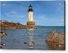Fort Pickering Lighthouse  -  Fortpickeringlight1871salem185107 Acrylic Print by Frank J Benz