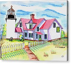 Fort Point Lighthouse Maine Acrylic Print by Paul Meinerth