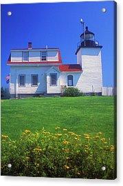 Fort Point Lighthouse Stockton Springs Acrylic Print by John Burk