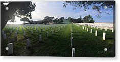 Acrylic Print featuring the photograph Fort Rosecrans National Cemetery by Lynn Geoffroy