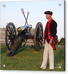 Fort Stanwix Cannon Ready Acrylic Print by Diane E Berry
