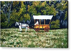 Fort Toulouse Heading Back To The Fort Acrylic Print by Beth Parrish