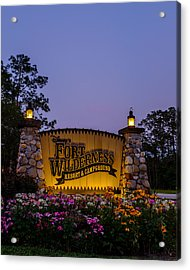 Fort Wilderness Resort And Campground Acrylic Print