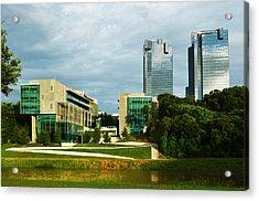 Acrylic Print featuring the photograph Fort Worth Buildings by Ricardo J Ruiz de Porras