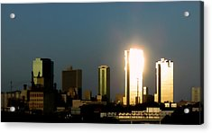 Fort Worth Gold Acrylic Print