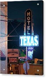 Fort Worth Hotel Texas 6616 Acrylic Print