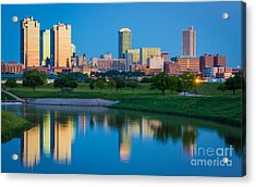 Fort Worth Mirror Acrylic Print by Inge Johnsson