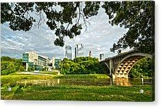 Acrylic Print featuring the photograph Fort Worth Skyline 1 by Ricardo J Ruiz de Porras