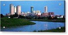 Acrylic Print featuring the photograph Fort Worth Skyline 2 by Ricardo J Ruiz de Porras