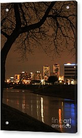 Fort Worth Skyline Acrylic Print by Jill Smith