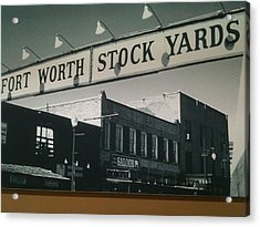 Fort Worth Stockyards Acrylic Print by Shawn Hughes
