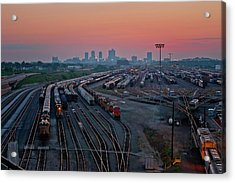 Fort Worth Trainyards Acrylic Print