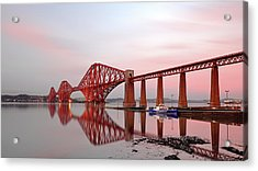 Acrylic Print featuring the photograph Forth Railway Bridge Sunset by Grant Glendinning