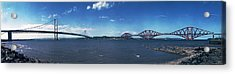 Forth Road And Railway Bridges Acrylic Print by Donald Buchanan