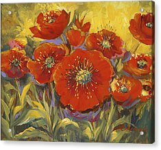 Fortuitous Poppies Acrylic Print