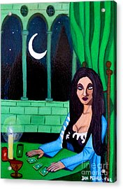 Acrylic Print featuring the painting Fortune Teller by Don Pedro De Gracia