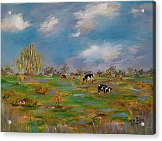 Acrylic Print featuring the painting Forty Acres by Judith Rhue