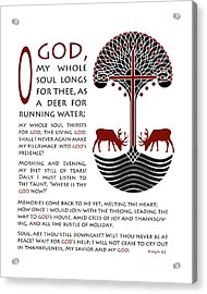 Forty Second Psalm Acrylic Print by Lawrence Klimecki