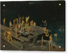 Forty Two Kids Acrylic Print by George Wesley Bellows