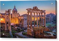 Forum Romanum Dawn Acrylic Print
