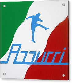 Forza Azzurri Acrylic Print by Oliver Johnston