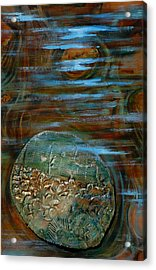 Fossils In A Stream Acrylic Print by Suzanne McKee