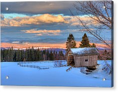 Acrylic Print featuring the photograph Foster Covered Bridge - Cabot, Vermont by Joann Vitali