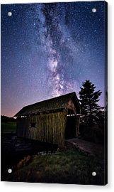 Foster Covered Bridge - Milky Way Acrylic Print