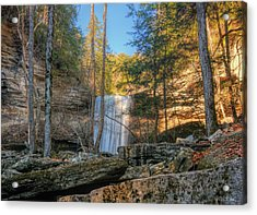Lower Greeter Falls 1 Acrylic Print by Dale Wilson