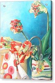 Foulard Acrylic Print by Muriel Dolemieux