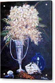 Acrylic Print featuring the painting Found Treasures by Jan Byington