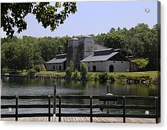Foundry Building Fayette State  Park 2 Acrylic Print by Mary Bedy