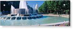 Fountain And Us Capitol Building Acrylic Print