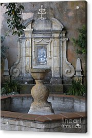 Fountain At Mission Carmel Acrylic Print