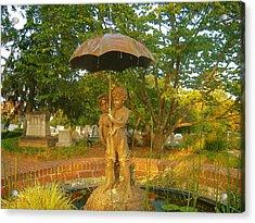 Fountain At Oakland Cemetery Acrylic Print